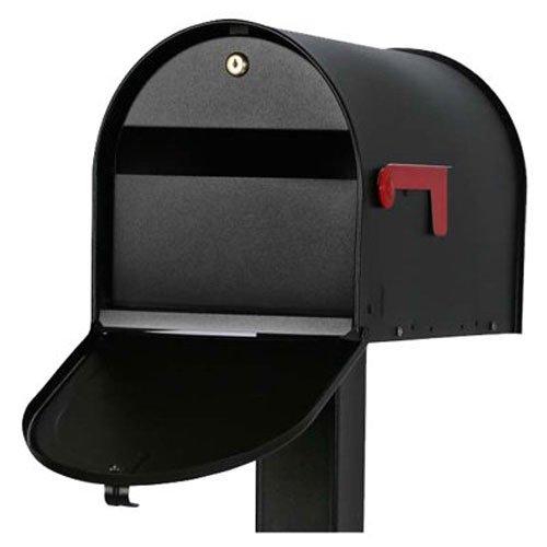 """Original US-Mailbox Mailsafe II, abschließbar, Stahlblech \""""Made in USA\"""", schwarz - US Mailbox"""