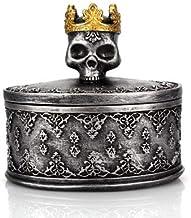 JJTOPJJ Classic Skeleton Head Resins Makeups Jewelry Box Decorations Bars Homes Restaurants (Black)