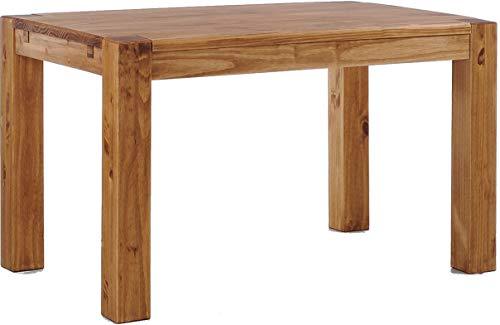 Brasilmöbel Esstisch Rio Kanto 140x90 cm Brasil Pinie Massivholz Größe und Farbe wählbar Esszimmertisch Küchentisch Holztisch Echtholz vorgerichtet für Ansteckplatten Tisch ausziehbar