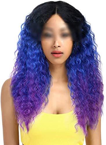 Pelo Encaje frente ombre peluca rubia 26 pulgadas largo rizado Pelucas sintéticas para las mujeres negras
