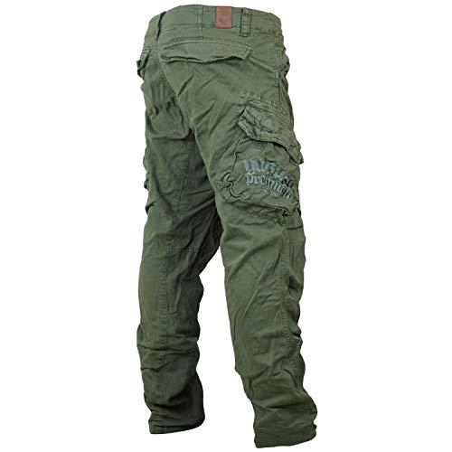 Yakuza Premium Herren Cargo Pants Hose 2666 Olive grün