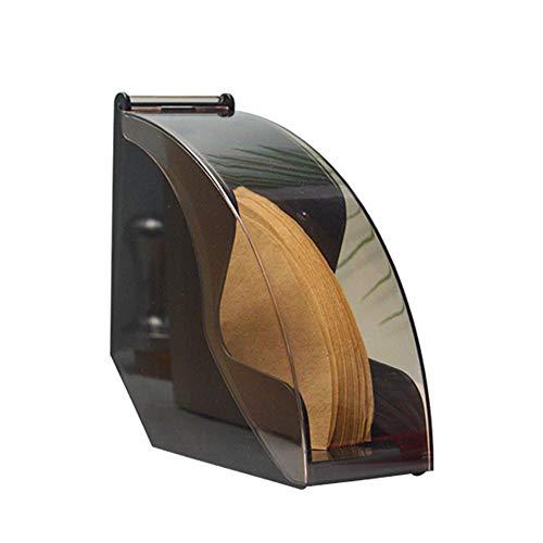Hearthrousy - Soporte para filtros de café, madera, soporte para filtro de café, papel de almacenamiento, para filtro de café, filtro de café, dispensador