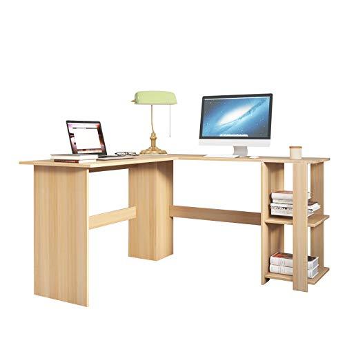 SogesPower Escritorio para ordenador, estación de trabajo en forma de L, gran escritorio de esquina para PC, portátil, estudio, gaming, estación de trabajo para el hogar y la oficina SP-XTD-SC01