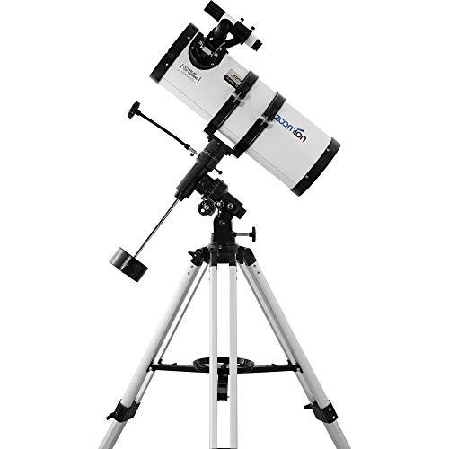 Zoomion Gravity 150/750 EQ Teleskop Astronomisches Spiegelteleskop Set mit Stativ, Montierung und Okulare für Erwachsene und Einsteiger der Astronomie