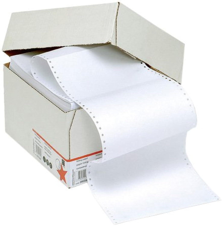 5 Star Office endlos endlos endlos Druckerpapier perforiert 2000 Blatt pro Box 60g m2 30,5cm x 23,5cm unbedruckt (1 Box) B000I6M0HC | Exquisite (in) Verarbeitung  137fe9