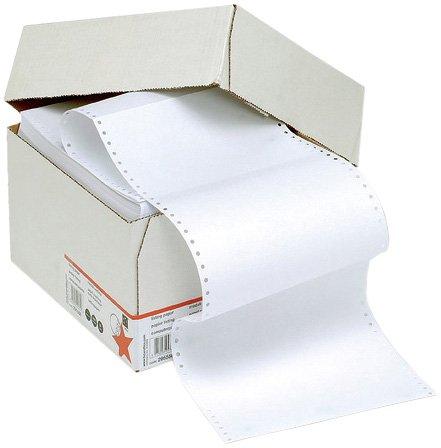 5 Star Office endlos Druckerpapier perforiert 2000 Blatt pro Box 60g/m2 30,5cm x 23,5cm unbedruckt (1 Box)
