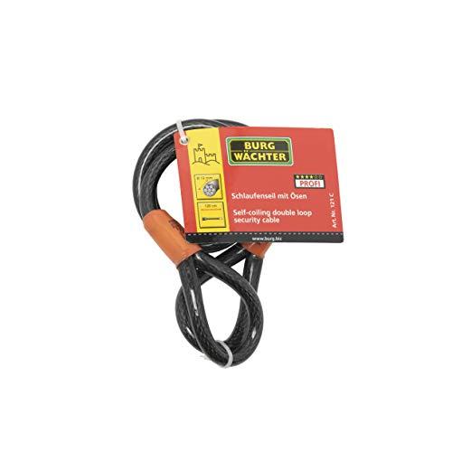 Sterling 121C - Cable de Seguridad de Bucle Doble autoenroscable (Recubrimiento de Vinilo, 1,2 cm x 1,2 m)