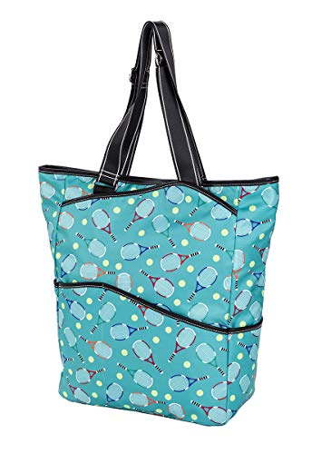 Sydney Love Sport Serve It Up Tall Tote w Tennis Racquet Compartment, Turquoise