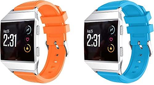 Classicase Correa de Reloj Compatible con Fitbit Ionic, Impermeable Reemplazo Correas Reloj Silicona Banda (Pattern 2+Pattern 4)