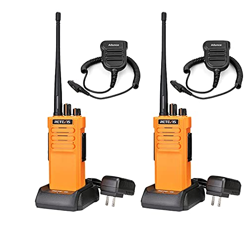 Retevis RT29 Two Way Radios Long Range Rechargeable,High Power 2 Way Radio,Adults Walkie Talkies with IP67 Waterproof Mic VOX Emergency Alarm for Survive Adventure Offroad(2 Pack)
