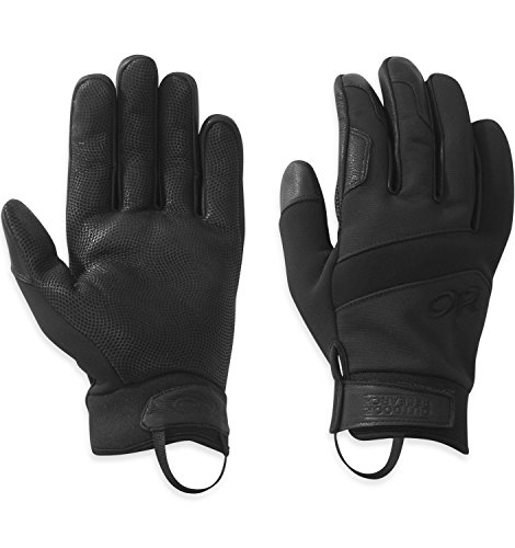 Outdoor Research TAA Coldshot Guantes, Mujer Unisex adulto Hombre, color All Black, tamaño large