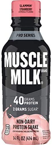 Muscle Milk Pro Series Protein Shake Slammin Strawberry 40g Protein 14 Fl Oz 12 Pack Pack of product image