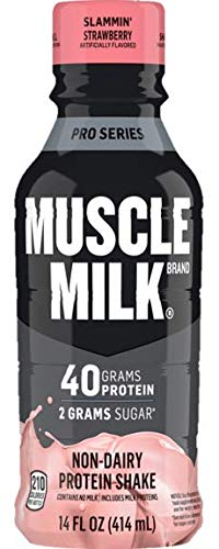 Muscle Milk Pro Series Protein Shake, Slammin' Strawberry, 40g Protein, 14 Fl Oz, 12 Pack (Pack of 12)