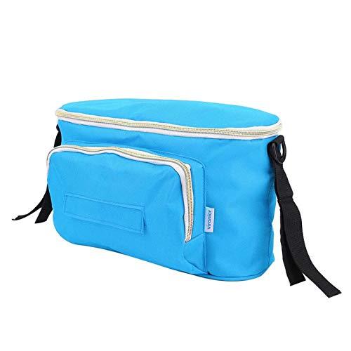 Operalie Bolsa para Cochecito de bebé, Multifuncional de Gran Capacidad para Cochecito de bebé, Bolsa Colgante, Organizador, Bolsa de Almacenamiento, portavasos para Botella de pañales(Azul)