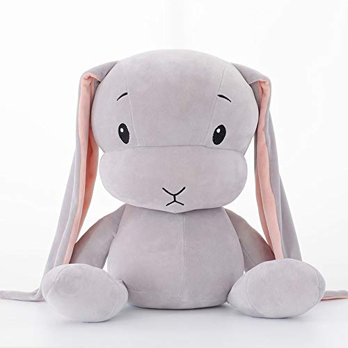 Gezonde Dumb and Cute Rabbit Pluche Toy Lucky Bunny omlaag Baby van Soothing Doll Best Birthday Christmas Party Cadeaus for kinderen Gift (Color : Gray)