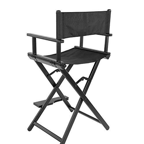 Berufsdirektor-Stuhl, faltender Aluminiumlegierungs-Maskenbildner Chair Lightweight Wooden Solid Tall Seat