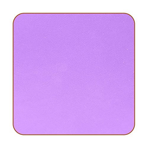Posavasos de piel sintética de color morado para bebidas, paquete de 6 posavasos cuadrados para bebidas para el hogar o el bar, regalo de inauguración de la casa