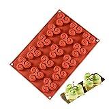 VVXXMO Molde de silicona con 15 agujeros en forma de giroscopio, para decoración de tartas, galletas, chocolate, decoración de repostería, moldes de cocina hechos a mano