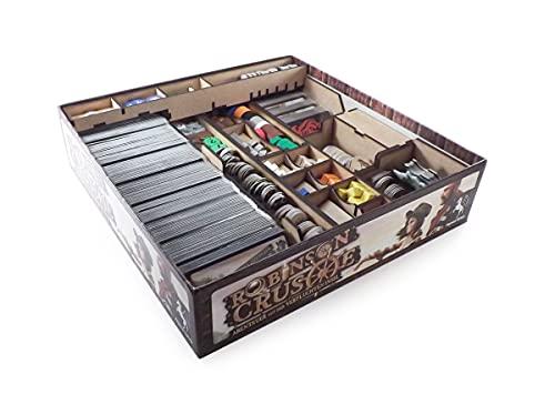 The Game Doctors Organizador de Juegos de Mesa Compatible con Robinson Crusoe y la expansión del Viaje del Beagle