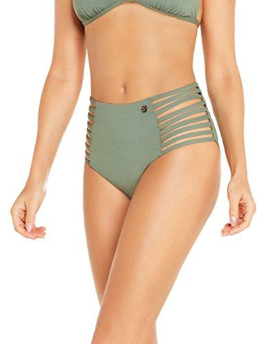 Sylvie Flirty Swimwear Damen Bikinihose Bibi, Grün (Adventure 3720), 40