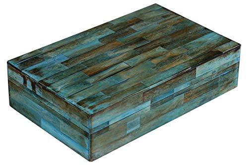 Handicrafts Home Verdigris Covered Keepsake Decorative Storage Jewelry Organizer Box Bone Inlay Gift