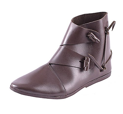 Ulfberth Frühmittelalter Schuhe, Typ Jorvik Größe 40-47 Dunkelbraun aus Leder - Mittelalter - LARP - Wikinger (44)