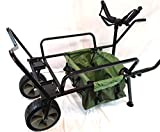 Bison Heavy Duty Two Wheel Fishing Barrow, with Barrow Bag and Y Bar