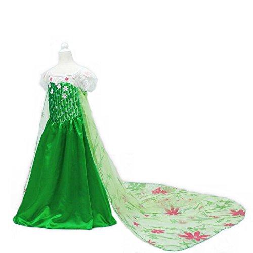 Fille Fleur Princesse Raiponce Longue Cape fête Cosplay Costume
