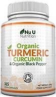 Turmeric Curcumin Organic High Strength 600mg, 365 Capsules with Organic Black Pepper   Suitable for...