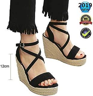Summer Femmes Plateforme Sandales romain Boucle Sport gothique bout ouvert chaussures à lanières