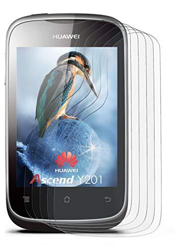 5X Huawei Ascend Y201 | Schutzfolie Matt Display Schutz [Anti-Reflex] Screen Protector Fingerprint Handy-Folie Matte Displayschutz-Folie für Huawei Y201/Y201 Pro Displayfolie