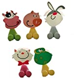 GCIYAEN Antibacterial Toothbrush Suction Cup Cover Holder with Suction Cup, Animal, 5Pack