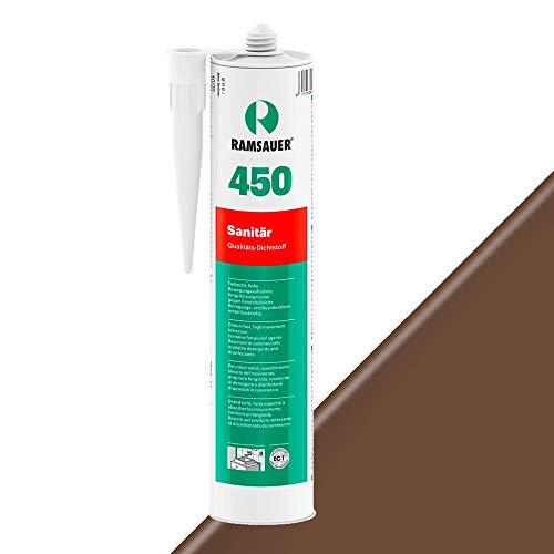 Ramsauer 450 Sanitär 1K Silikon Dichtstoff 310ml Kartusche (Rehbraun)