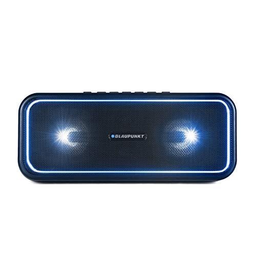 BLAUPUNKT Bluetooth Party Lautsprecher PS 200, TWS Lautsprecher, Bluetooth 4.2, AUX-IN, Party-Speaker mit Mehrfarbige LED Beleuchtung, Integrierter Akku in schwarz