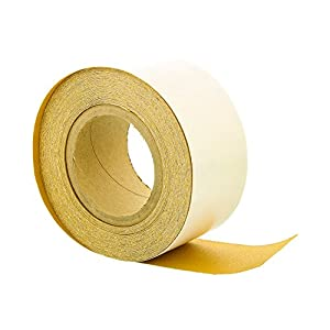 "Dura-Gold - Premium - 150 Grit Gold - Longboard Continuous Roll 20 Yards Long by 2-3/4"" Wide PSA Self Adhesive Stickyback Longboard Sandpaper for Automotive and Woodworking"
