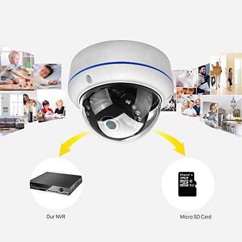 Cámara de vigilancia IP 1080 p Wifi con 20 M IR visión nocturna detección de movimiento, al aire libre impermeable metal anti-disturbios monitor