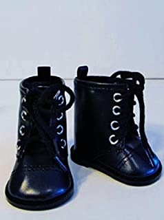 Boots Black For American Girl or 18 in Dolls Shoes Accessories