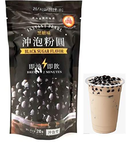 Wufuyuan Black Sugar Tapioca Instant Pearl 250 g de cerveza en 2 minutos súper rápido