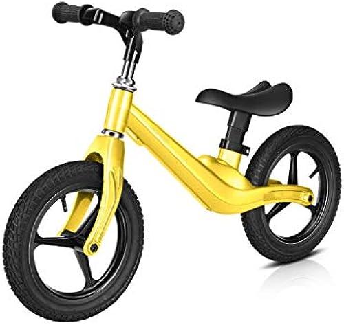 Chenglian Laufr r Kinder Laufrad Ohne Pedal Baby Walker Roller Mit Verstellbarer Lenkstange Und Sitz Für 2-6 Jahre Altes Kind ZWeißd fürrad 3Farbe (Farbe   Gelb)