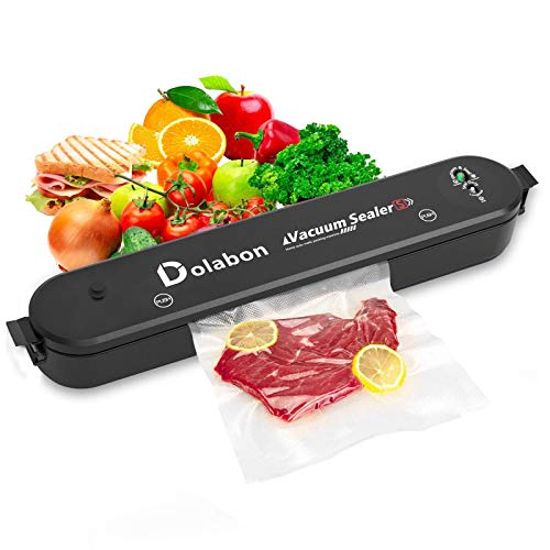 DOLABON Vacuum Sealer Machine, Automatic Food Sealer System with 30 Sealing Bags Food Vacuum Air Sealing System for Food Preservation Storage Saver