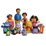 zdfgv 12 unids/Set Anime Dibujos Animados Dora PVC Figuras de acción Juguetes Dora la Exploradora niños para niños cumpleaños muñecas Regalos 3-6 CM