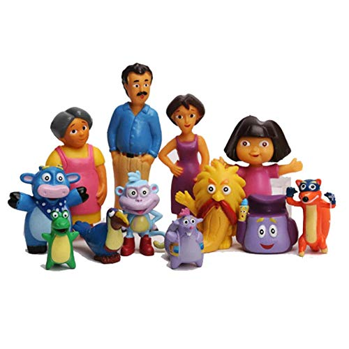zdfgv 12 unids/Set Anime Dibujos Animados Dora PVC Figuras de acción Juguetes Dora la...