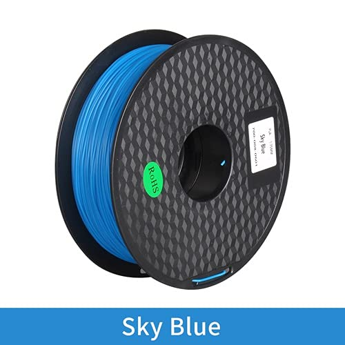 SRY-Holster HH-DYHC, 1pc 3D Printer PLA ABS TPU Filament 1kg 1.75mm Filament Dimensional Accuracy+-0.02mm 2.2LBS 3D Printing Material Fit For RepRap (Color : PLA Sky blue)