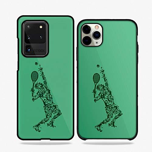 QFUNDAS Fundas De Moviles Carcasas De Moviles Funda Carcasa Modelo Diseños de Deportes, Tenis Compatible con Huawei P9 Lite