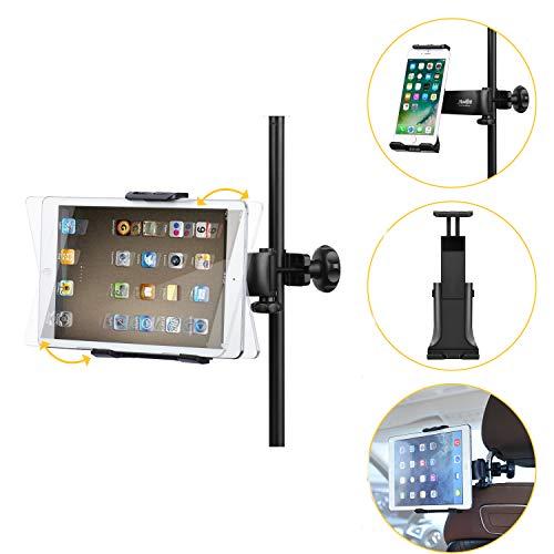 supporto tablet asta microfono Moukey Mmsph-1 Supporto tablet cellulare per Auto/ Microfono Stand Porta con Rotazione a 360 Gradi per tablet iPad Smartphone come iPhone XR XS MAX X 8 7 Plus 6S Galaxy S9 Note LG V30