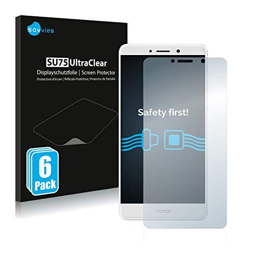 Savvies 6X Schutzfolie kompatibel mit Honor 6X Bildschirmschutz-Folie Ultra-transparent