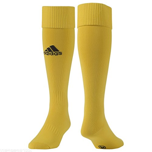 adidas Milano Sock Medias-Hombre, Negro/Gris/Amarillo, 0