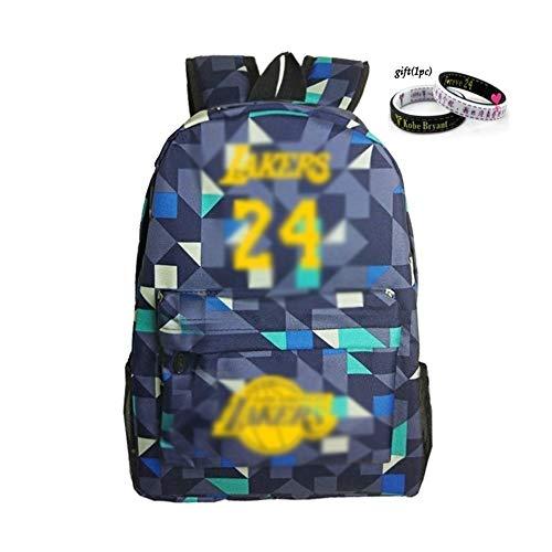 Kühle Rucksäcke NBA All Stare Wandern Back Pack Kobe Bryant Black Mamba Back Bag No. 24 Sterne wasserdichte Rucksäcke (Color : D)