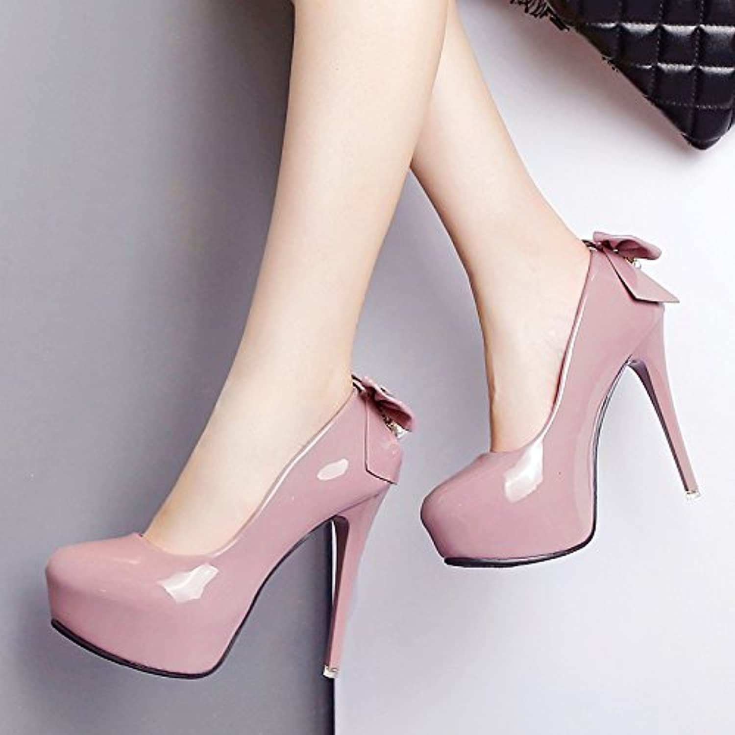 Women's shoes waterproof Taiwan high with stylish new fall Bow Tie lady high heels fine with beaded waterproof Taiwan female sandals
