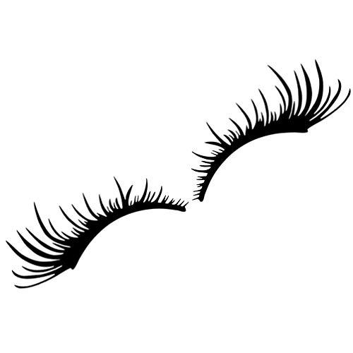 BESPORTBLE 2 Paare Augenbrauen Scheinwerfer Aufkleber Schwarz Wimpern Autoaufkleber Dekoration Karosserie Sticker Abnehmbar